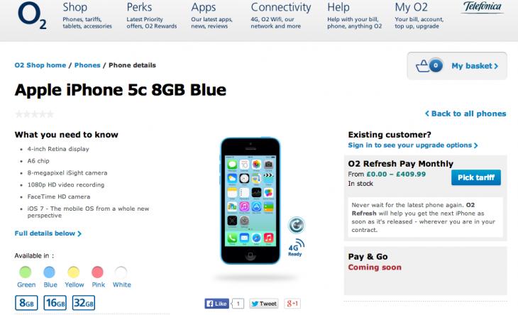 Apple Releases 8GB iPhone 5c, Brings Back iPad 4