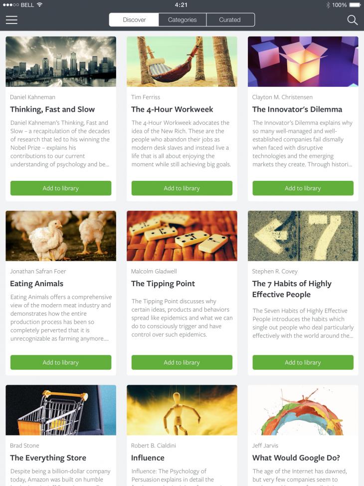 Screenshot Books iPad