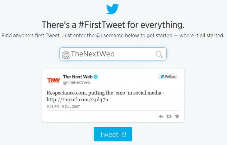 TNW's Very First Tweet