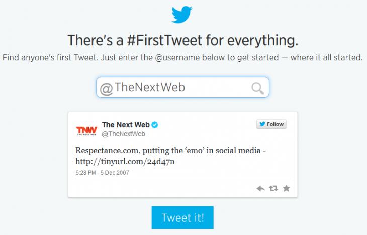 TNW's Very First Tweet