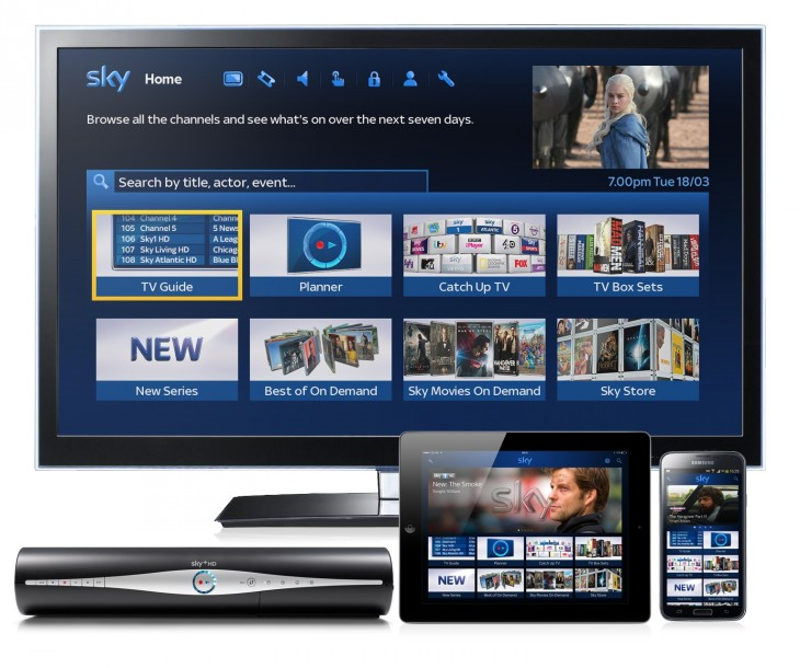 TV Home page across devices