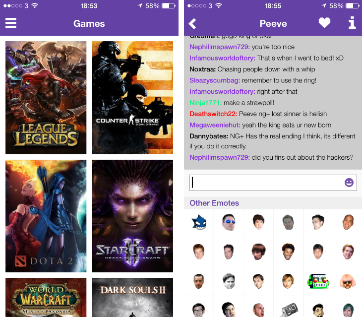 Twitch for iOS app Redesigned for iOS 7 with Better Chat and