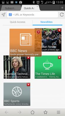 Maxthon App news bites