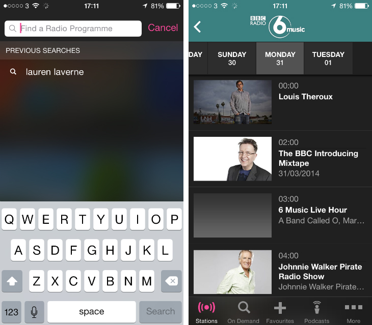 BBC's iPlayer Radio for iOS App gets Favorites with BBC iD