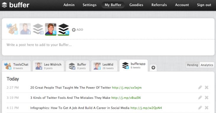 buffer tool social media platforms for business