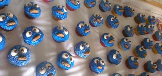 cookie monster cupcakes by jchapiewsky
