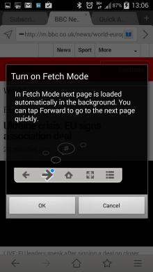 Maxthon App fetch mode