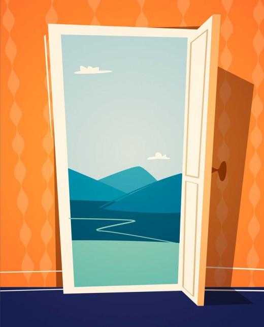 Open Door Illustration by Doremi