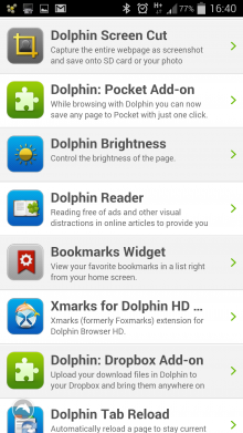 Dolphin App extensions