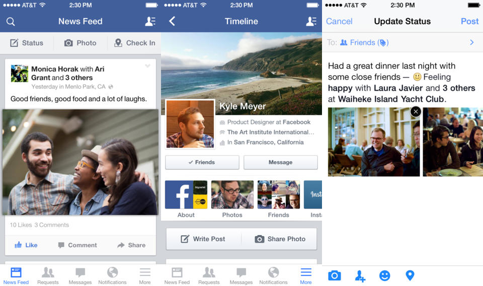 facebook ios Facebook for iOS simplifies choosing who can see your photo albums and gets a new iPad design