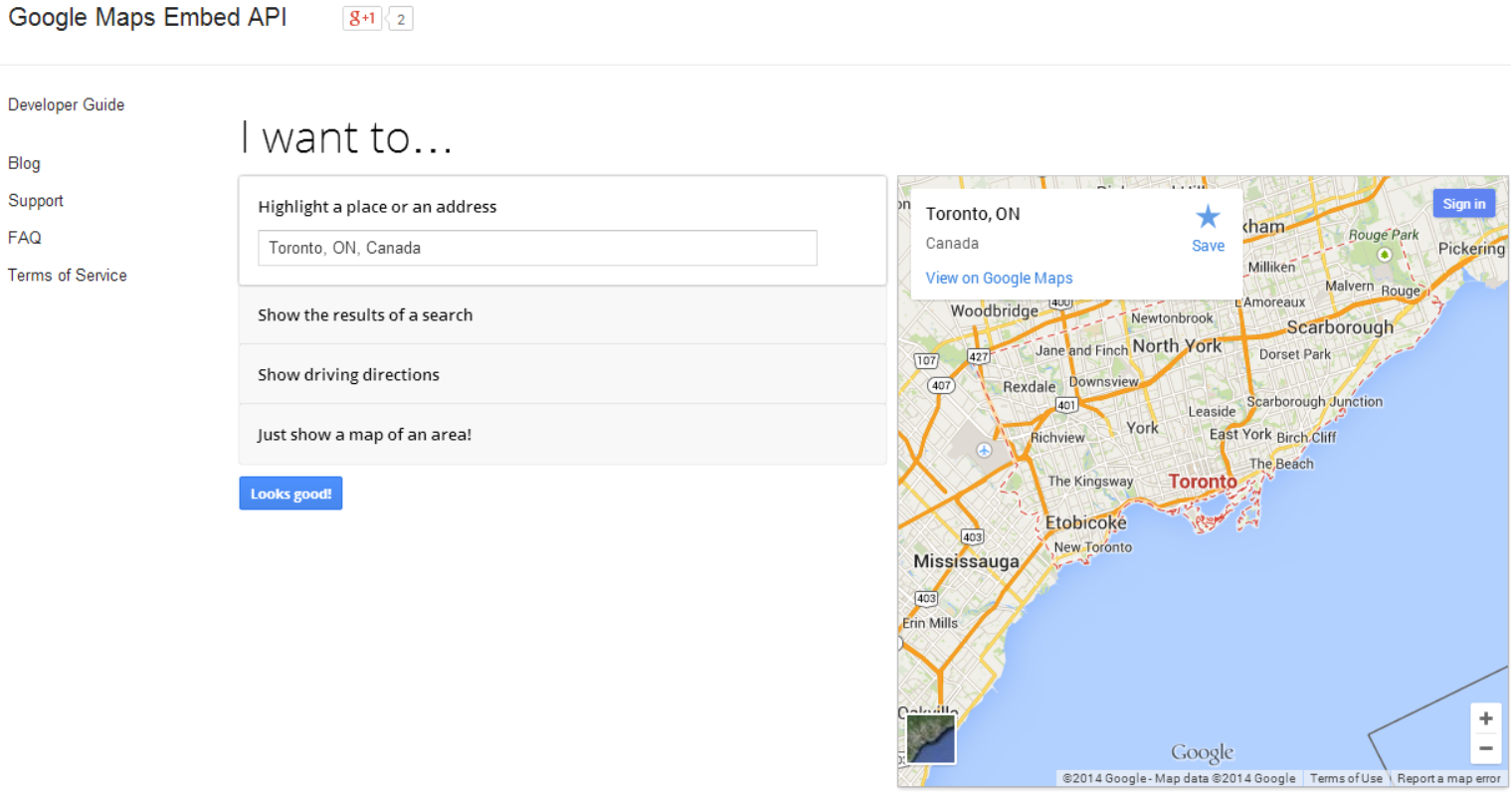 Google Maps Embed API Lets Developers Include Maps in Websites on bing maps 2014, world maps 2014, disney maps 2014, google map pin icon, google map of british columbia, aerial maps 2014, google map of spokane wa, google earth trinidad and tobago, starbucks maps 2014, google map of jordan, google street, google aerial view my house, google earth map, google landers map, google earth latitude and longitude, yandex maps 2014, google location history dashboard,