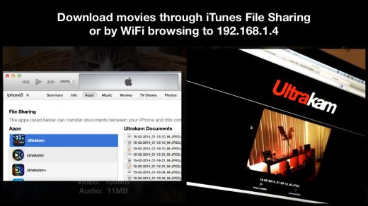 Ultrakam file sharing