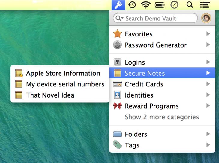 1P4.3 Mac Secure Notes 1Pmini