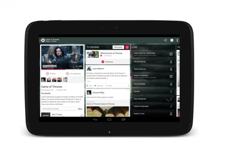 Beamly iPad screenshot higher res