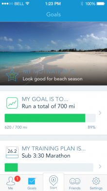 Goal Screen Motivation