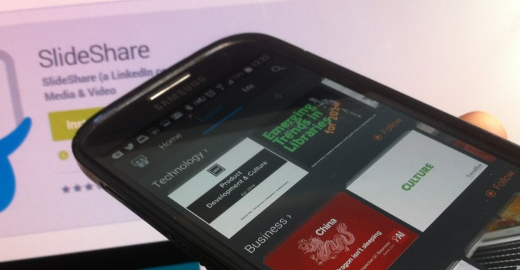 LinkedIn's SlideShare gets its first ever native mobile app, kicking off with Android