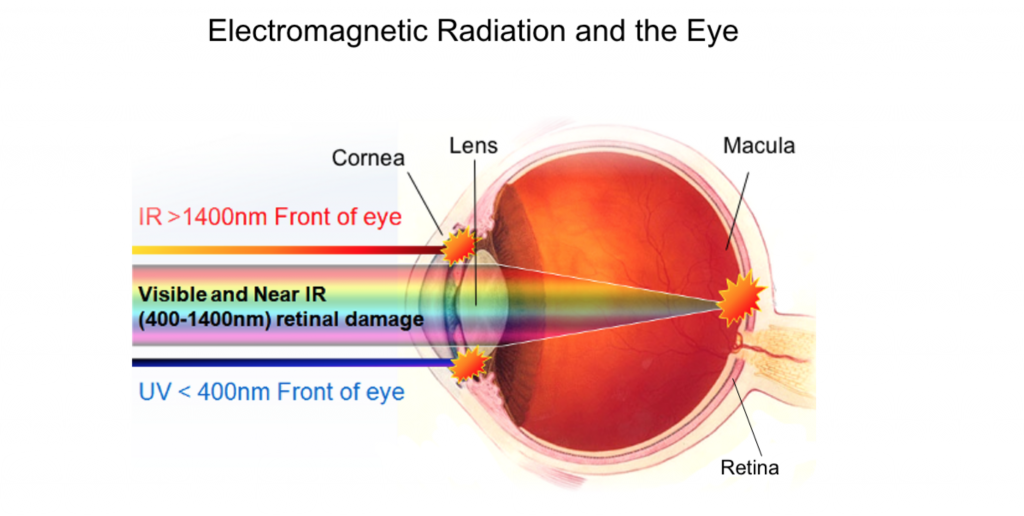 ultraviolet rays and the effects on the retina of the human eyes The sun, uv radiation and your eyes summer uv eye safety winter uv eye safety indoor tanning eye safety people with increased risk of eye damage from uv.