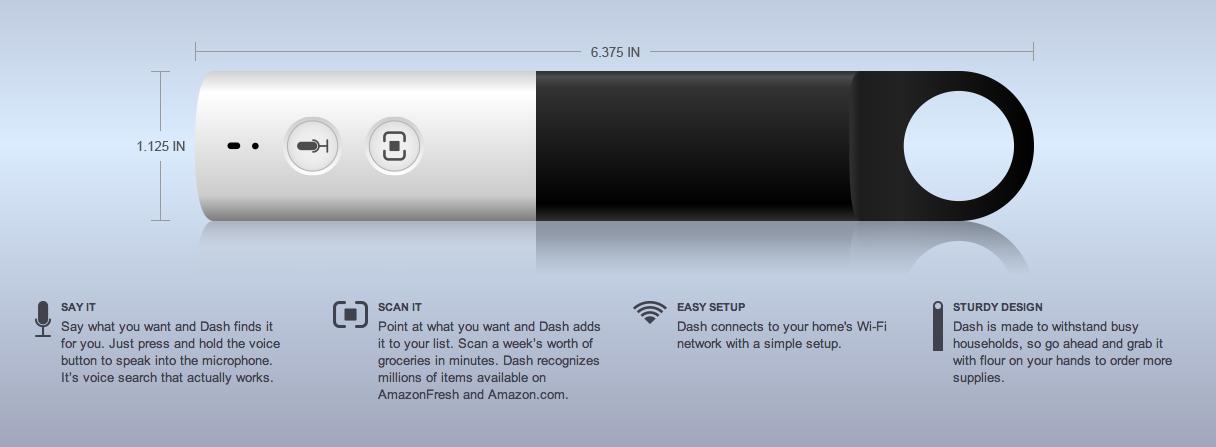 Amazon Launches 'Dash' Voice-Enabled Scanner for AmazonFresh