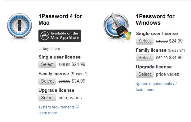 1password license windows