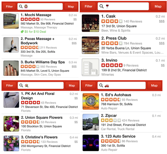 Menu For Olive Garden: Yelp Lets You Search With Emoji