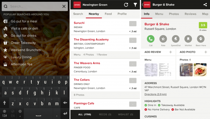 Zomato 730x413 Restaurant finder app Zomato fully revamped with new social skills and FoodFeed