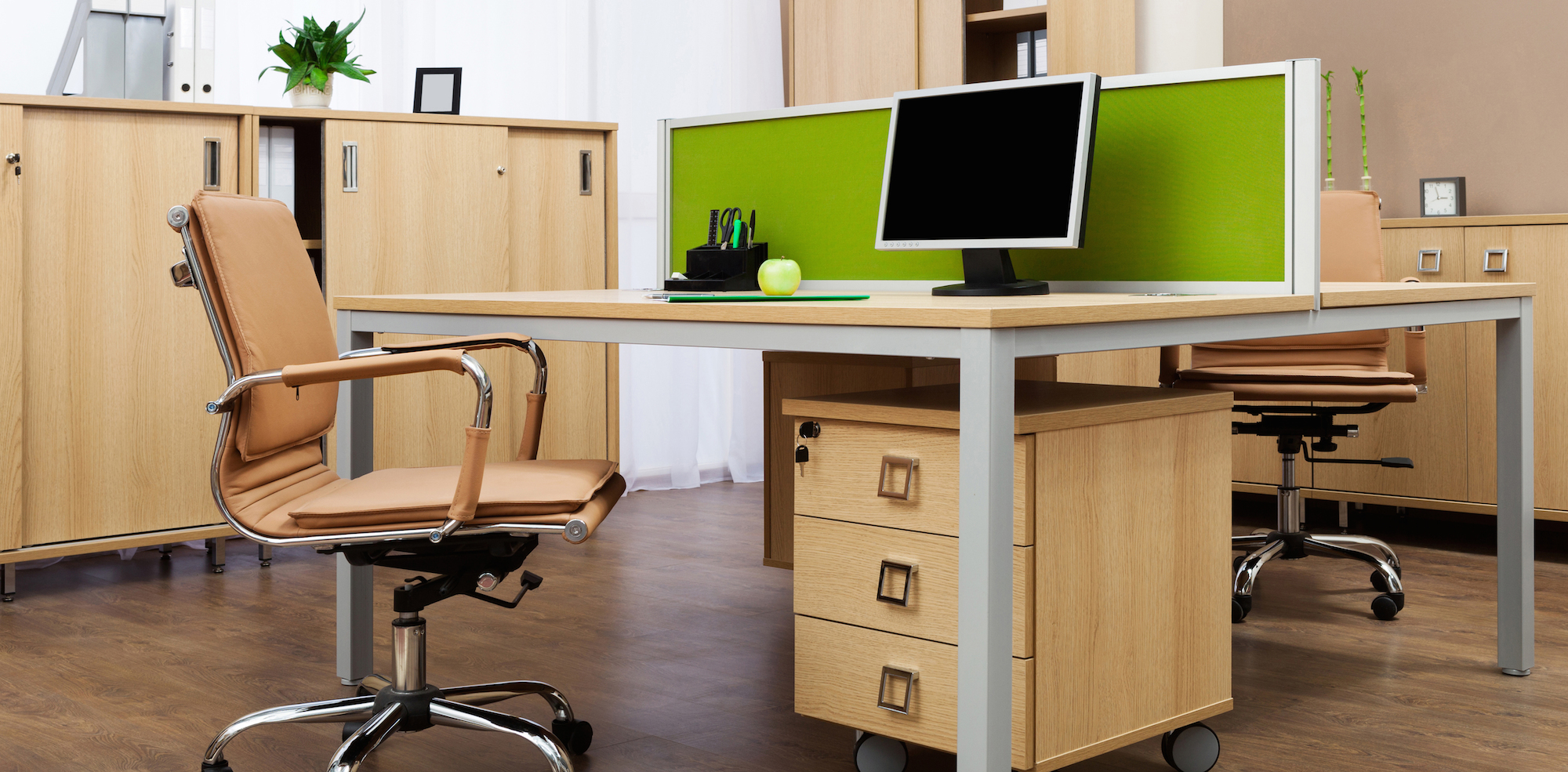 How to design an office that boosts productivity for Modern desks for offices