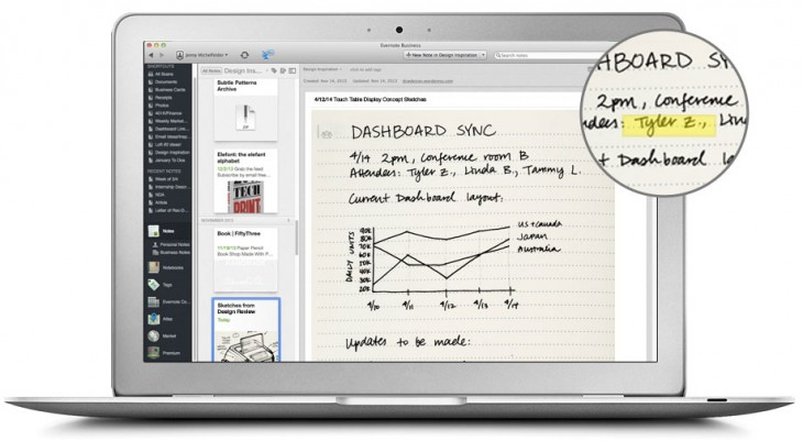 Evernote Business Notebook by Moleskine Offers Selective Pages Sharing