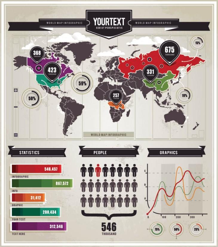 Vector Set of Infographic Elements by Sergey Kandakov
