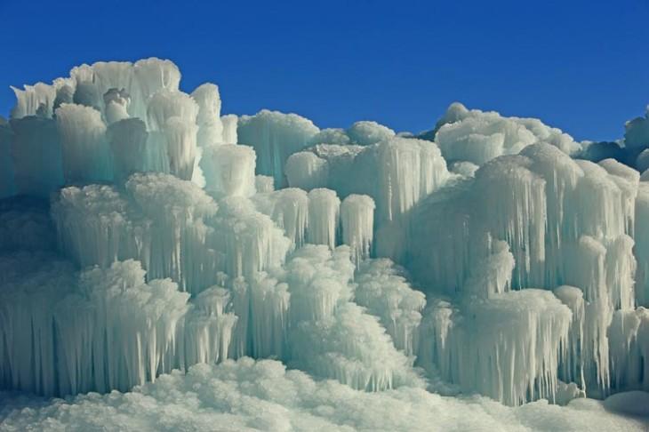 Frozen ice walls in rural Utah, USA   Johnny Adolphson