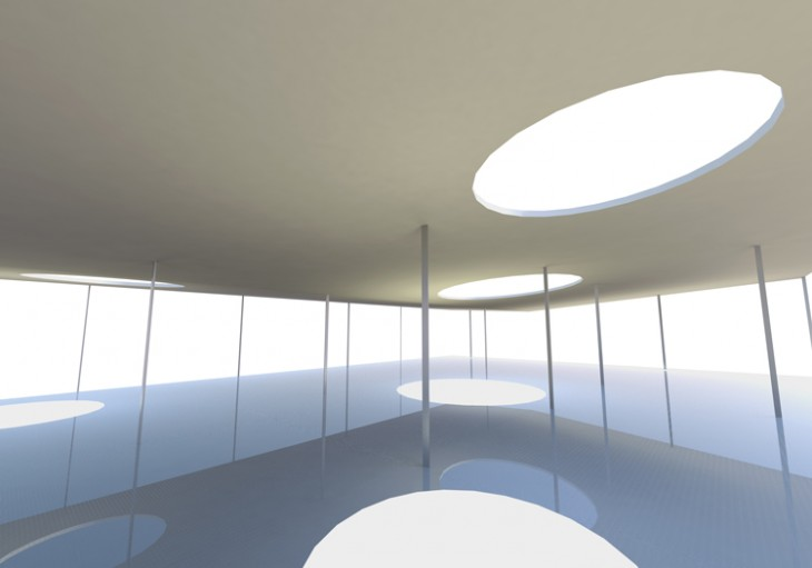 Abstract skylight, conceptual architecture