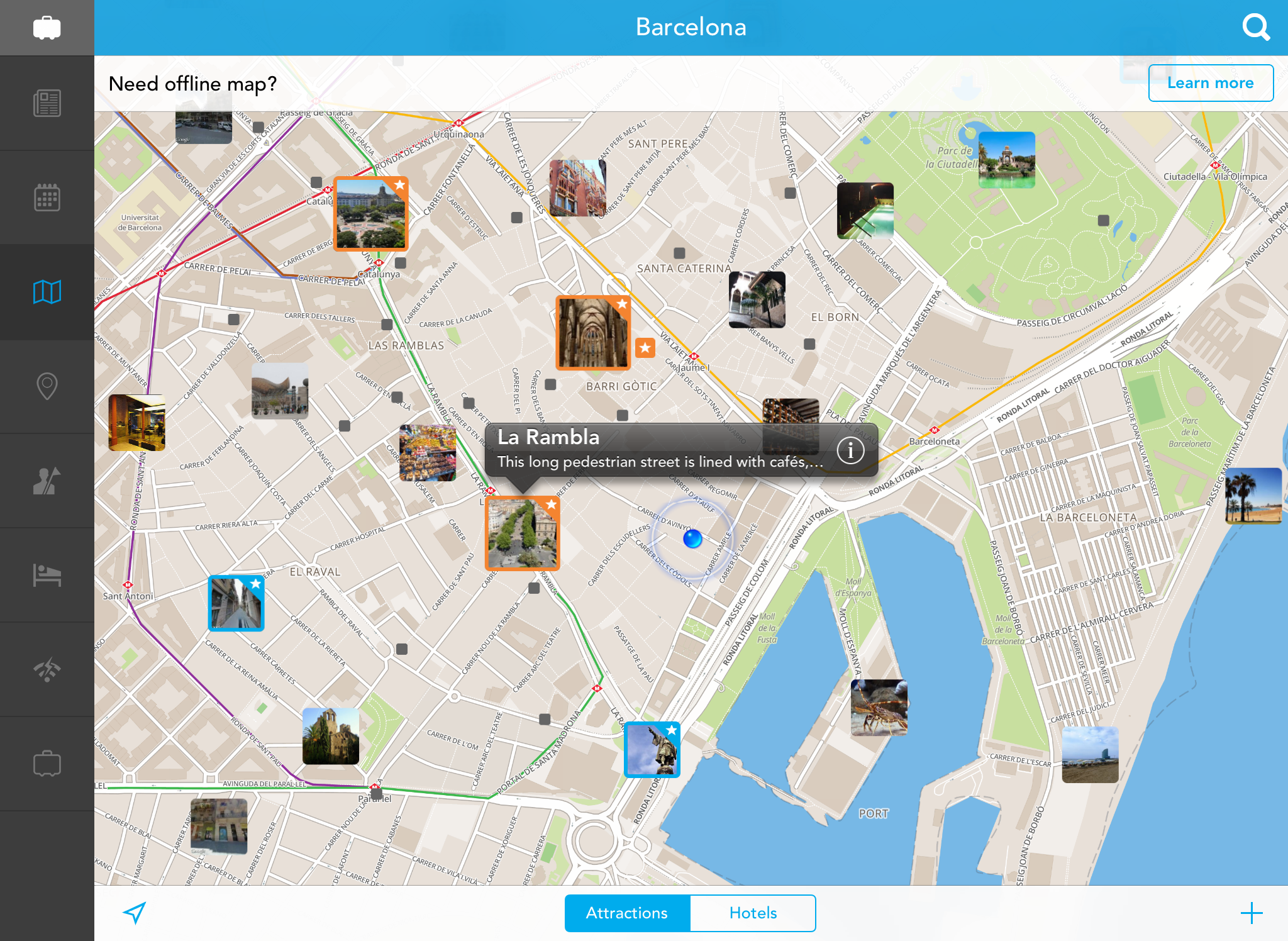 Tripomatics Travel Planning App Comes to the iPad – Map For Travel Planning
