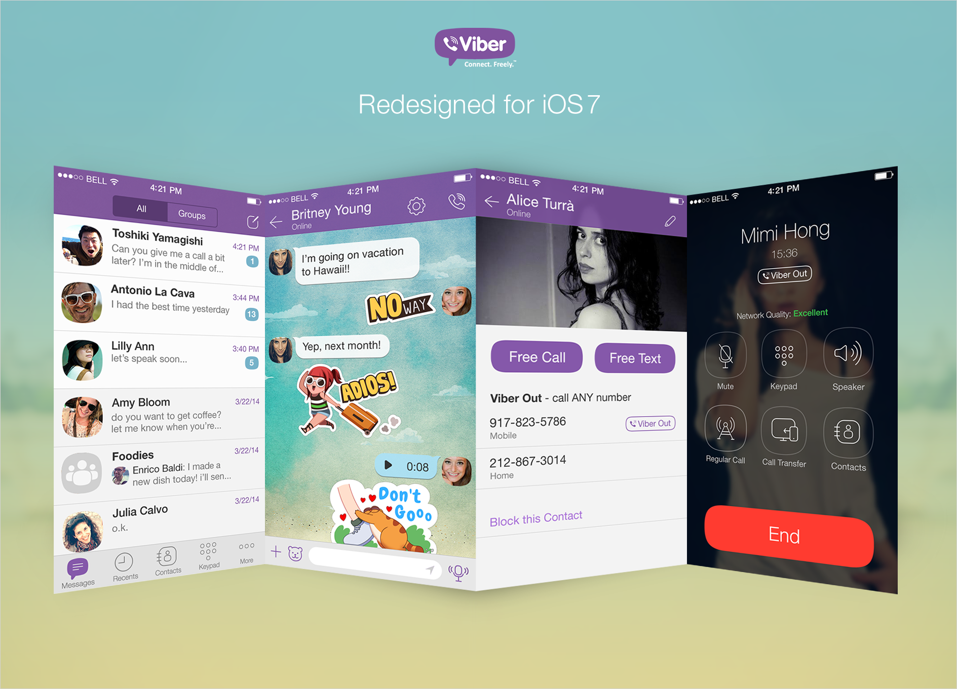 Viber for iOS Gets Flat Design, New Multimedia Features