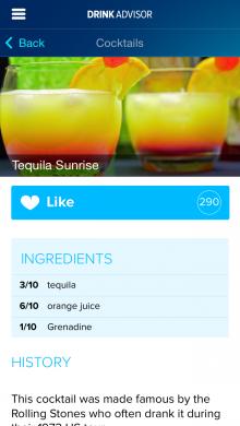 DrinkAdvisor Tequila Sunrise