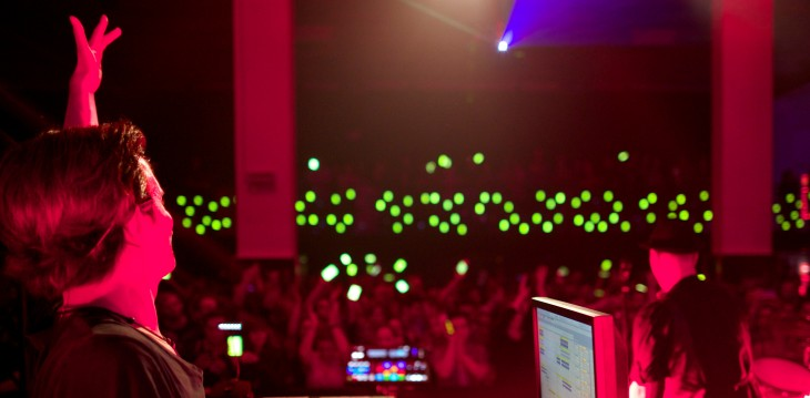 Dance music duo commandeer fans' smartphones to create a synchronized orchestra of sound and light ...