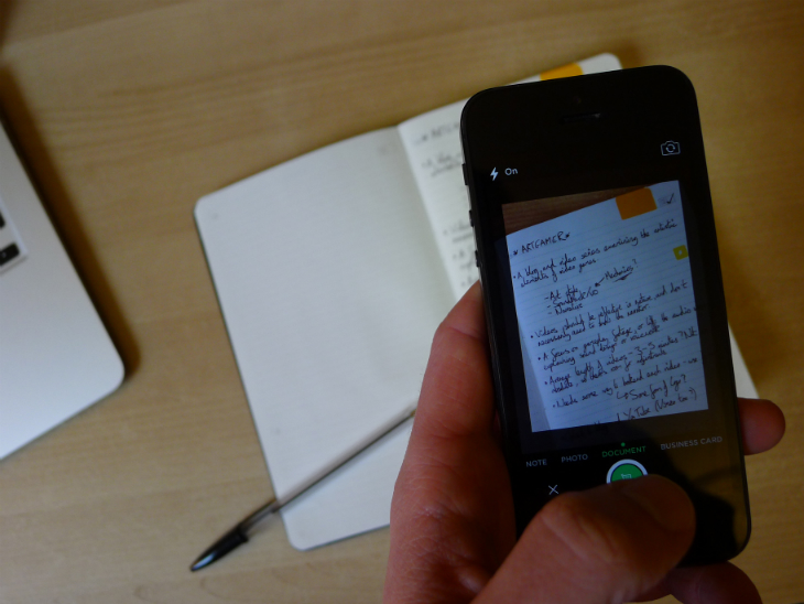 Evernote3 Evernote Business Notebook review: A stylish Moleskine jotter to organize your handwritten notes