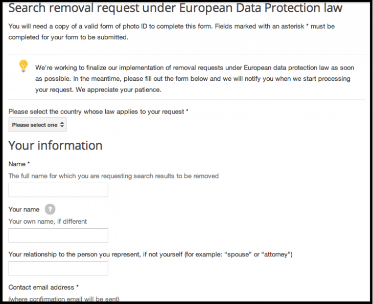 Google-EU-Form