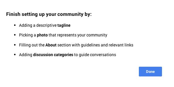 Google plus-Communites-profile-setup