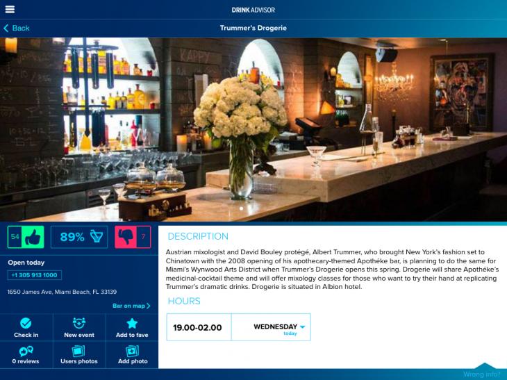 DrinkAdvisor for iPad