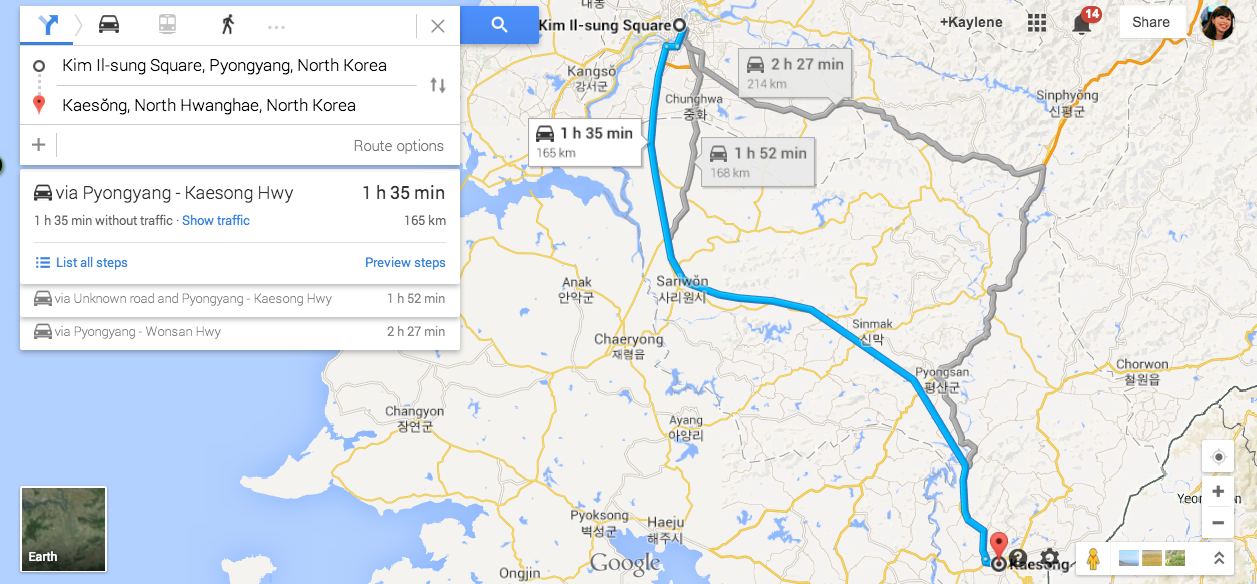Google Maps Now Provides GPS Navigation In North Korea on southeast asia map google, baghdad map google, georgia map google, venezuela map google, uzbekistan map google, anguilla map google, belarus map google, guyana map google, blank us map google, bermuda map google, indonesia map google, hungary map google, world map google, gaza strip map google, ww2 map google, aleutian islands map google, trinidad and tobago map google, congo map google, cook islands map google, monaco map google,