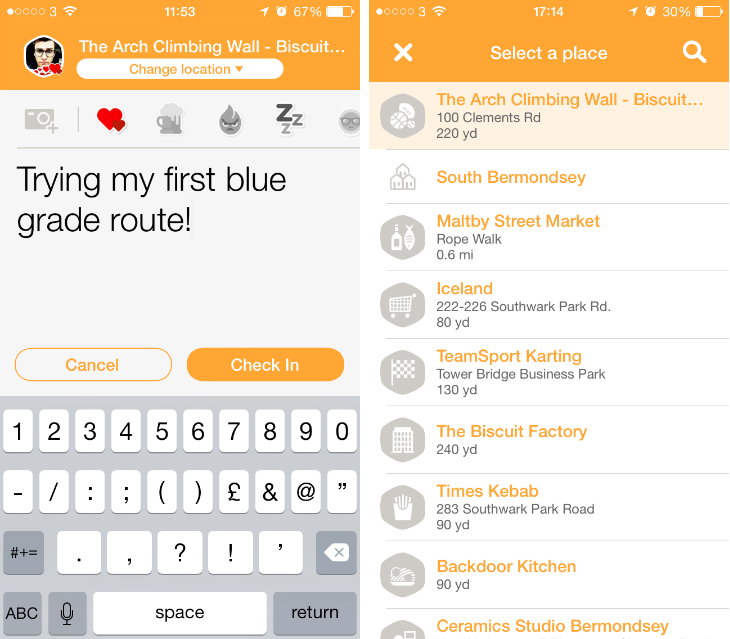 Foursquare Launches Swarm Check In App For Ios And Android