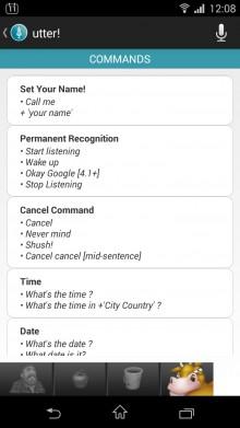 Utter Commands List