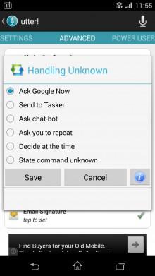 Utter Handling Unknown Command Settings