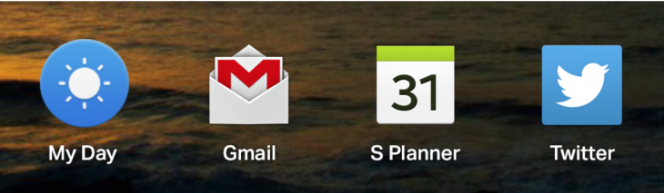 four most used apps