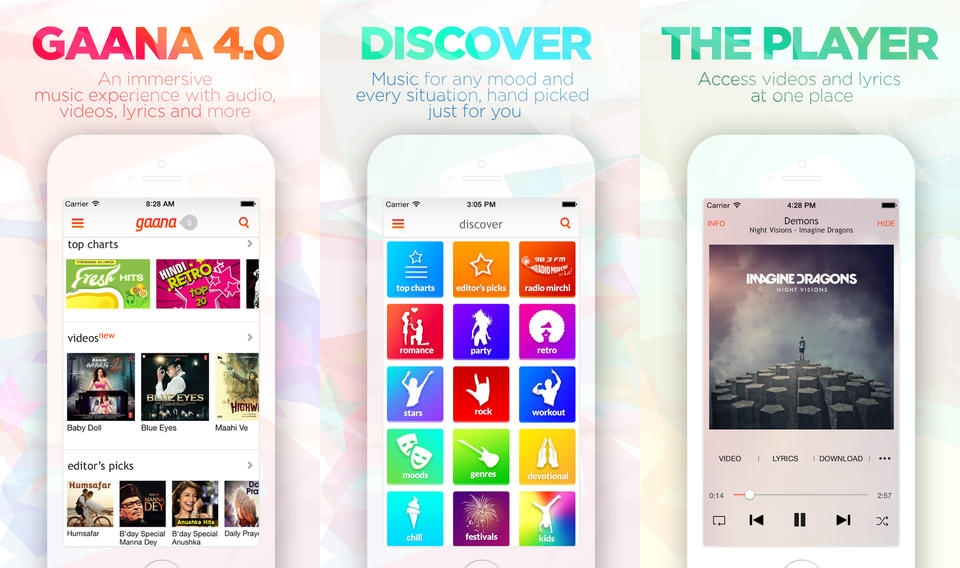 Gaana Adds Video & Lyrics to Mobile Apps