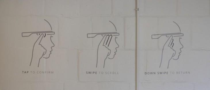google glass scroll instructions