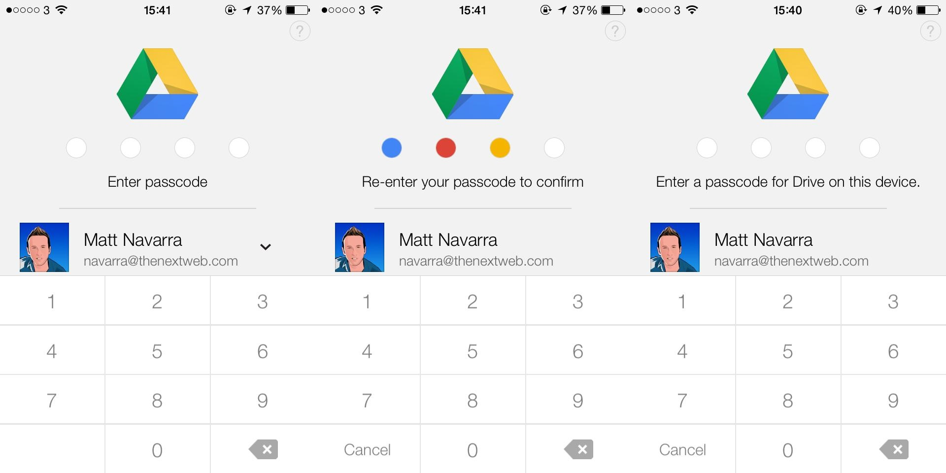 Google Drive for iOS Gets a 4-Digit Passcode Lock