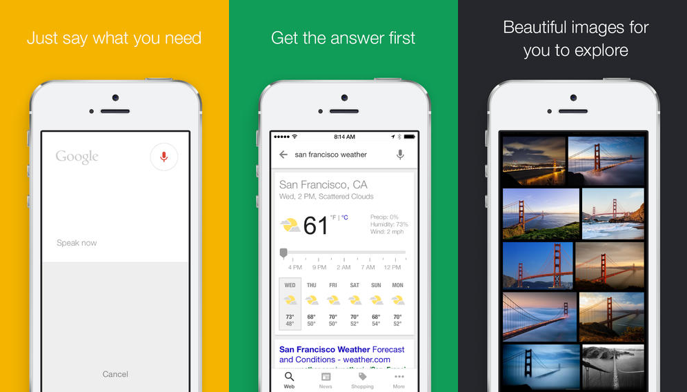 Google Search for iOS Now Lets You Ask Questions with Your Voice
