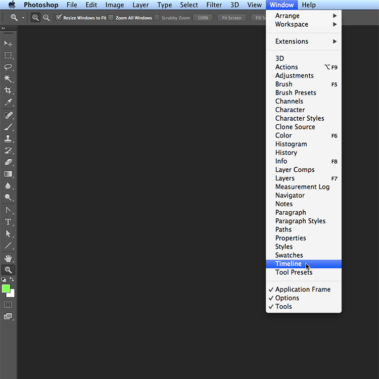 Mystery solved wheres the animation window in photoshop creative animation 2 ccuart Choice Image