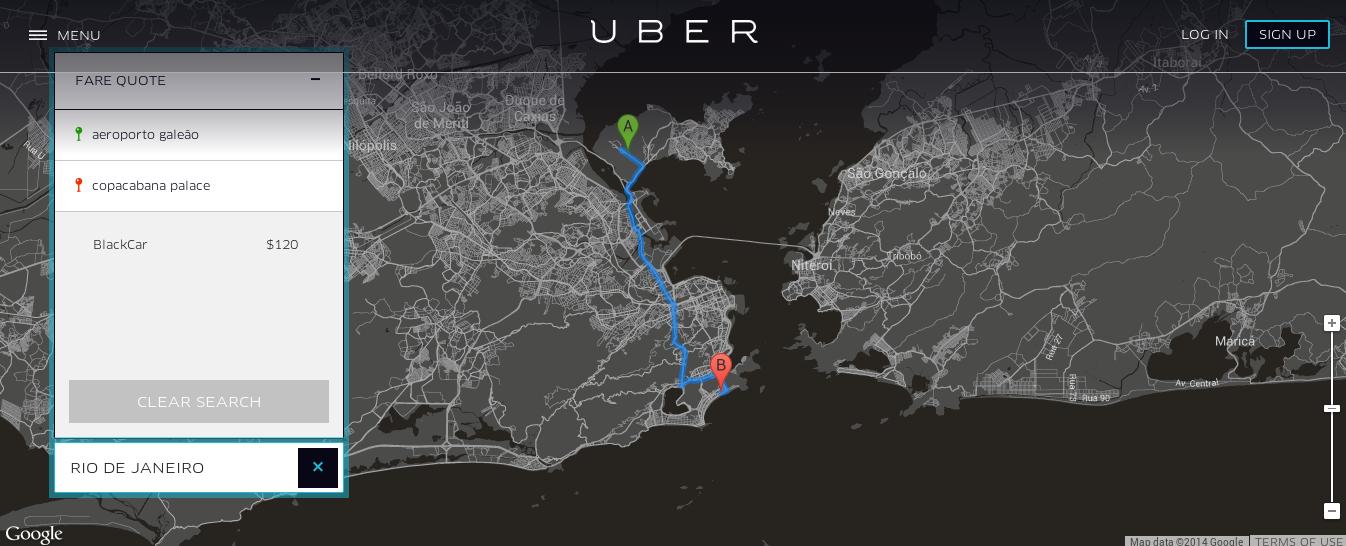 uber rio fare quote