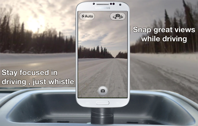 Whistle Camera for Android: Take Photos with Your Mouth